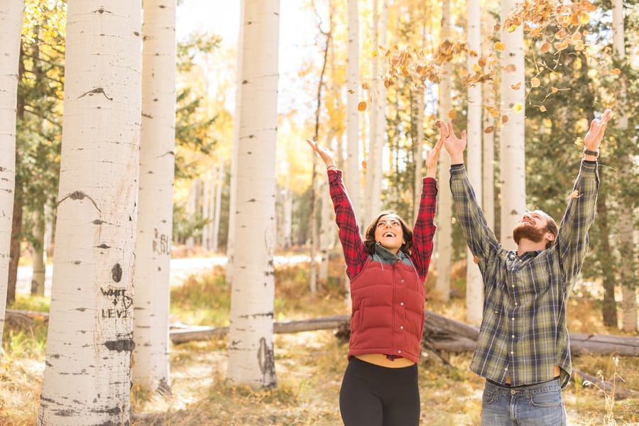 Engagement Photographer Flagstaff: Jane and Joe's Autumn Session