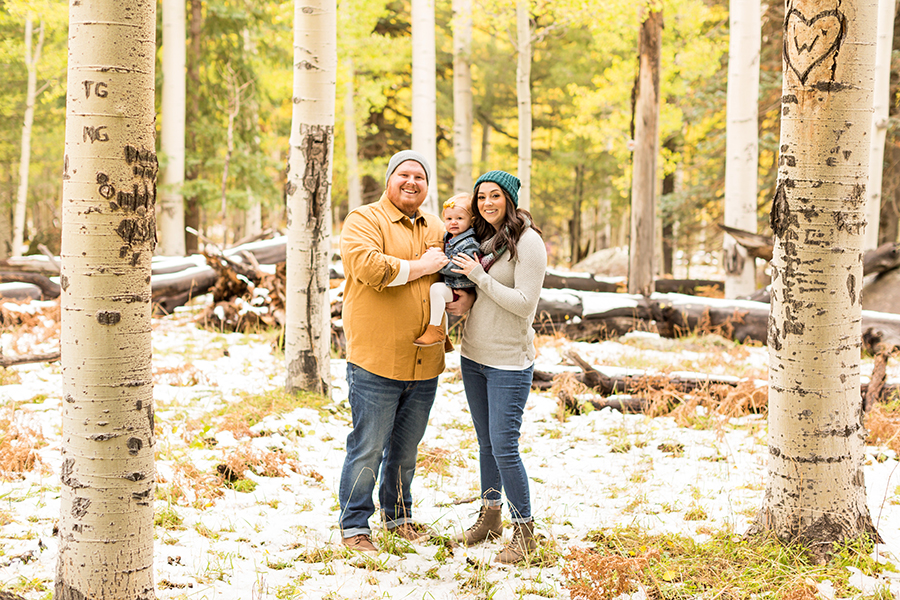 Saaty Photography - Hauser Family - Snowy Family and Portrait Photographer Flagstaff -32