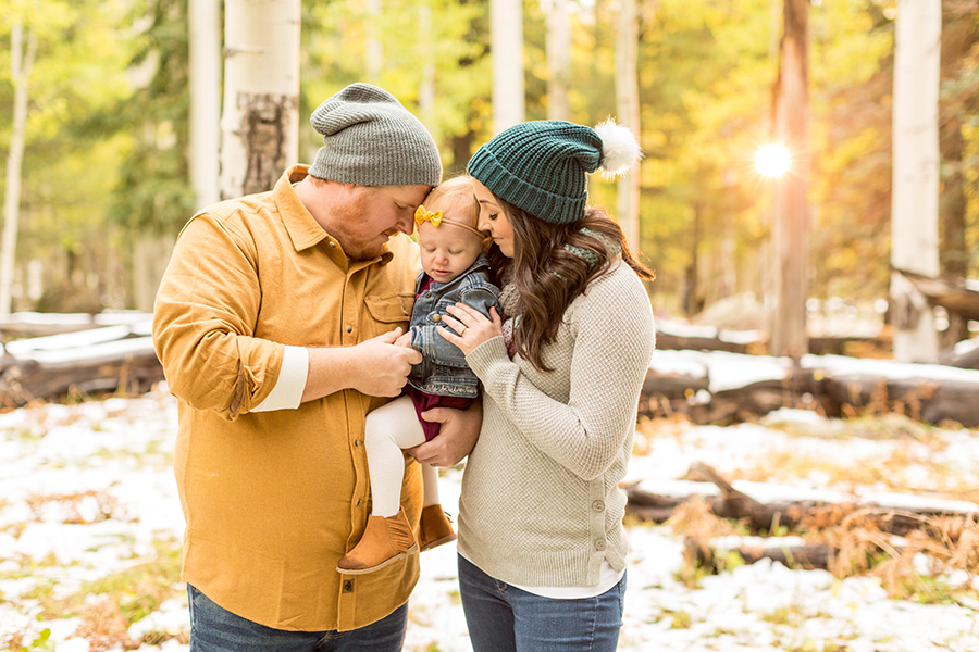 Saaty Photography - Hauser Family - Snowy Family and Portrait Photographer Flagstaff -35