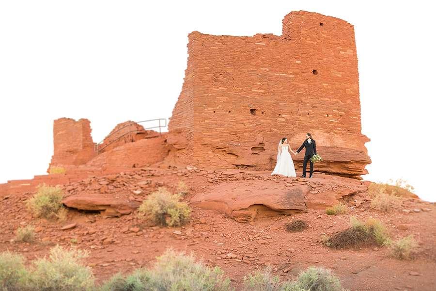 Leah and David John: Wupatki National Monument Wedding Photographer