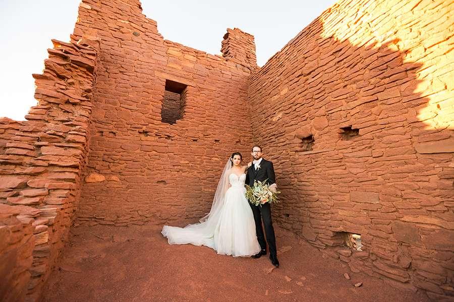 Leah and David John: Wupatki National Monument Wedding Photography