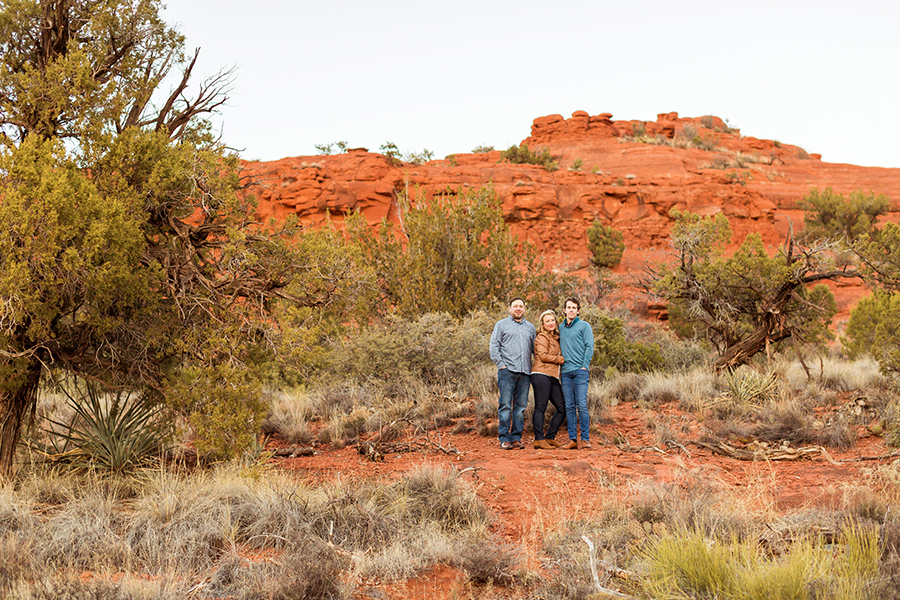 Saaty Photography - McCann Family - Portrait Photography Red Rock Country -sunset