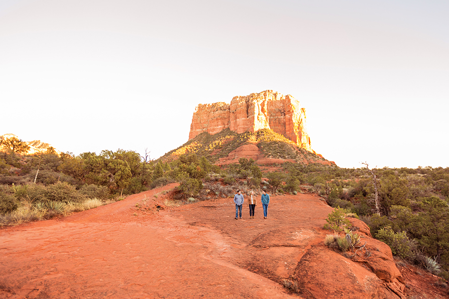 Saaty Photography - McCann Family - Portrait Photography Red Rock Country -scenic