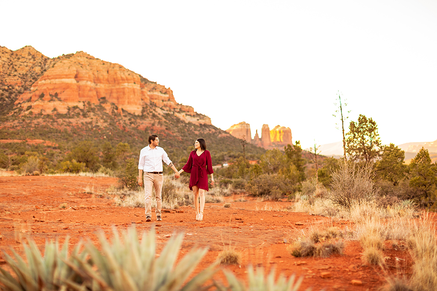 Stephanie and Mike: Sedona Arizona Engagement Photographer