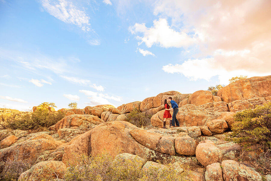 Watson Lake and Prescott Arizona Engagement Photography: Kayla and Scott
