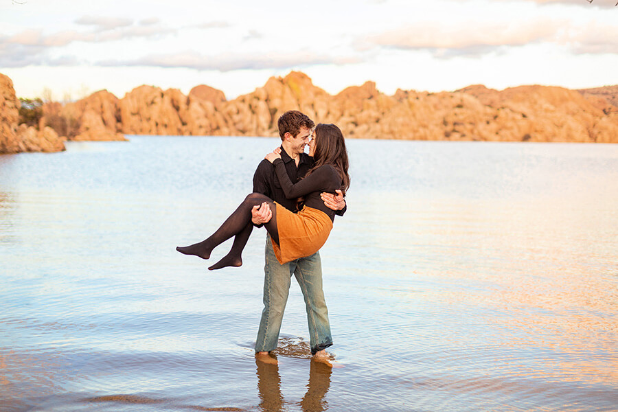 Saaty Photography - Kayla and Scott - Watson Lake and Prescott Arizona Engagement Photographer -48
