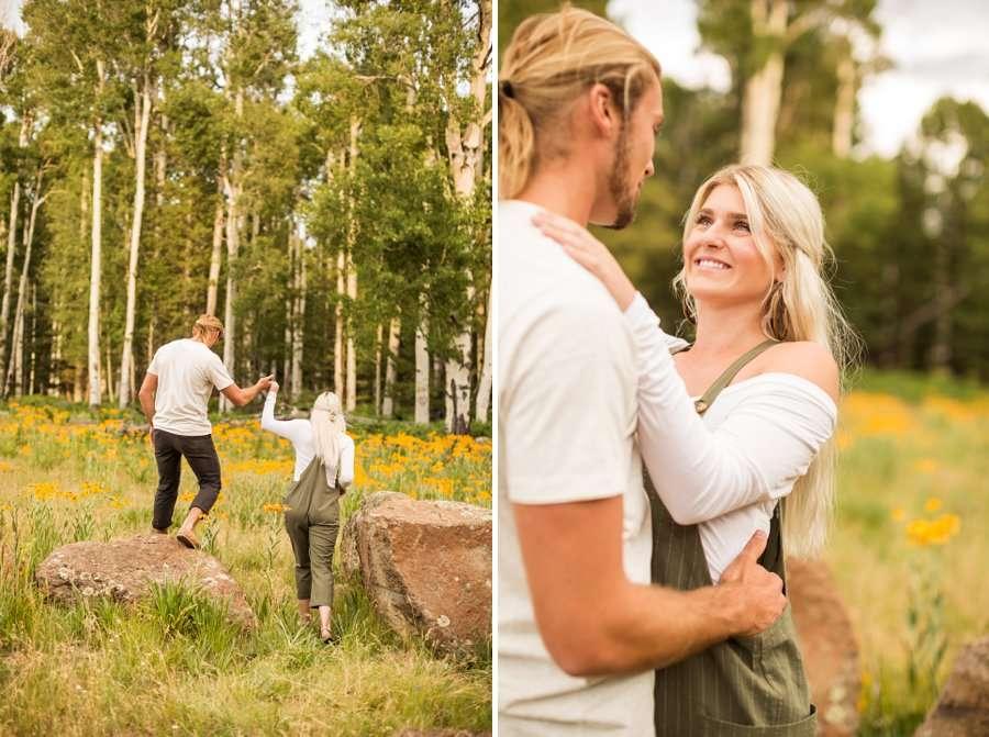 Flagstaff Arizona Portrait Wildflower Photography -Miranda and Quinton 2