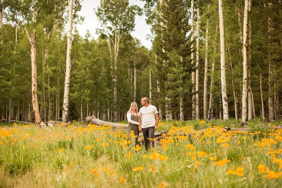 Flagstaff Arizona Portrait Wildflower Photography -Miranda and Quinton 6
