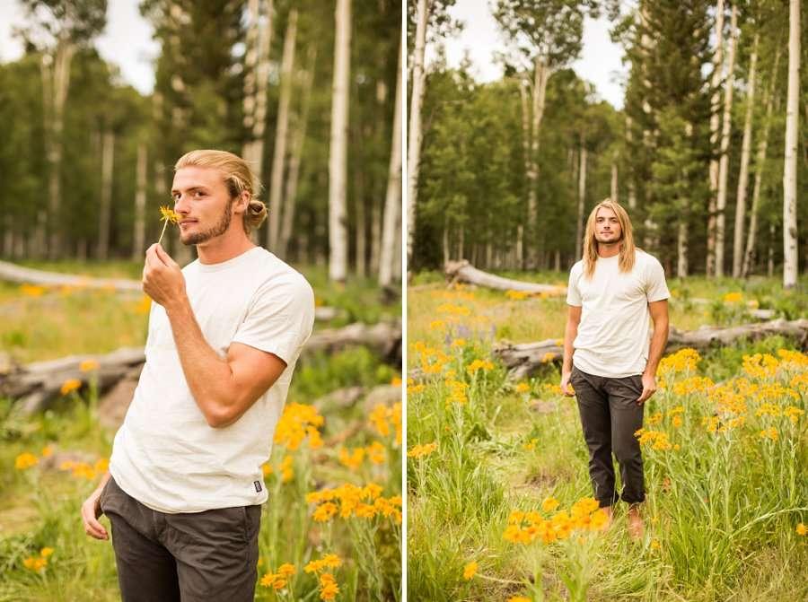 Flagstaff Arizona Portrait Wildflower Photography -Miranda and Quinton 8