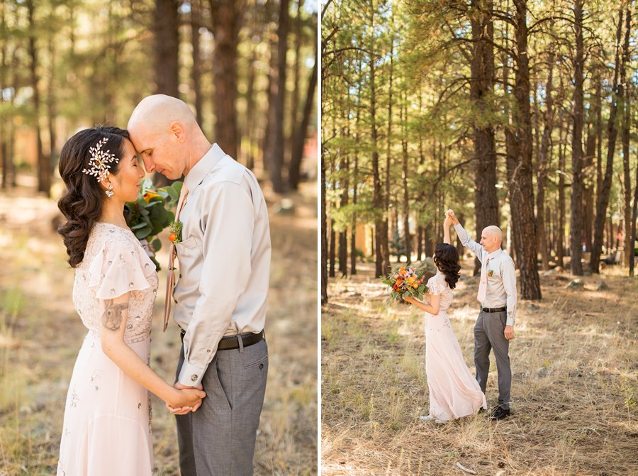 Becca and Tim: Thornagers Flagstaff Elopement Photography 09