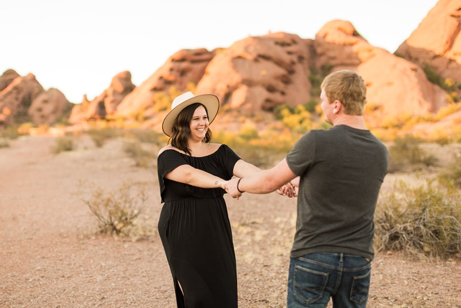 Leah and Trenten - Desert Couple Photography 11
