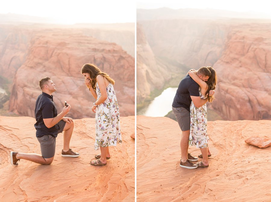 Ryan and Rachael - Horseshoe Bend and Grand Canyon Proposal Photographer 2