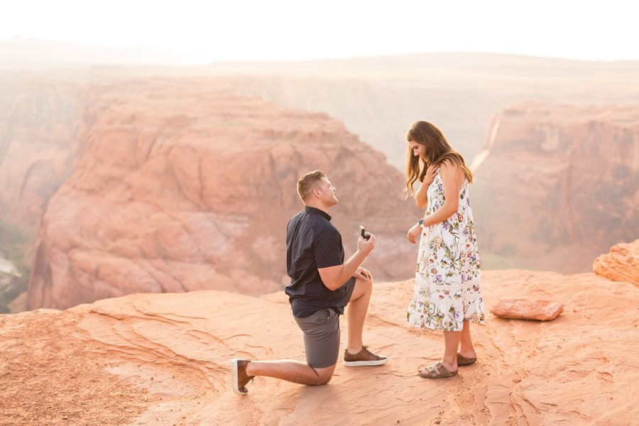 Ryan and Rachael - Horseshoe Bend and Grand Canyon Proposal Photographer 1