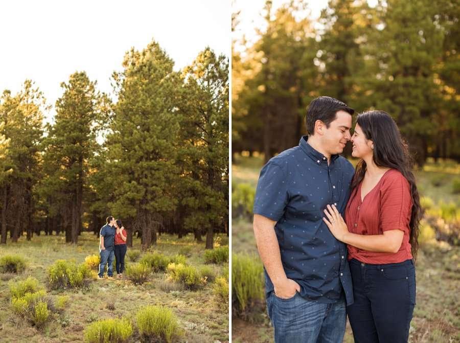 Sahara and Mike - Flagstaff Arizona Sunflower Engagement Photography 3