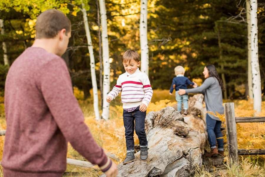Wilson Family - Autumn Aspen Family Photographers Flagstaff 1
