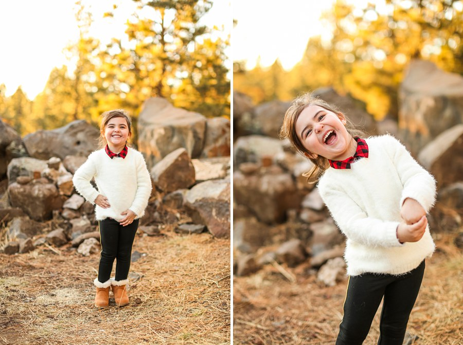 Northern AZ Portrait Photographer: Gomes Family Little Girl Laughing
