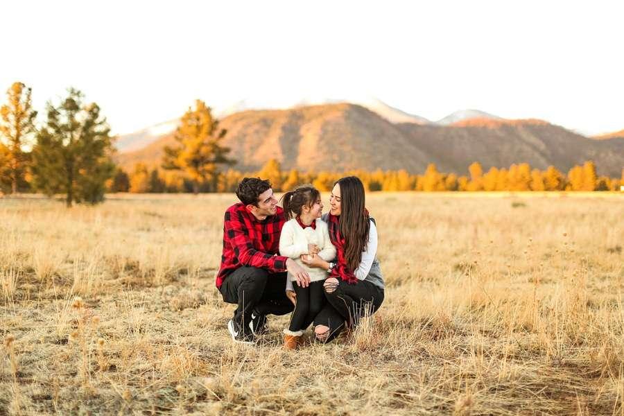 Northern AZ Portrait Photographer: Gomes Family Buffalo Park Sunset Laughter