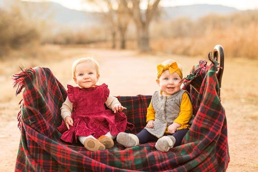Puffer Family: Sedona Arizona Portrait Photography Babies in Basket