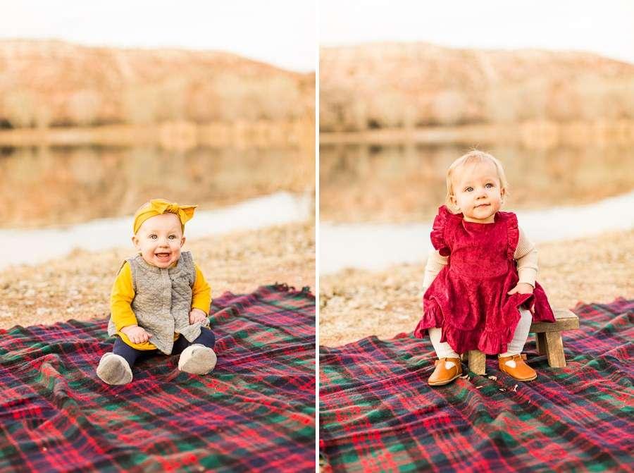 Puffer Family: Sedona Arizona Portrait Photography Babies on Blanket