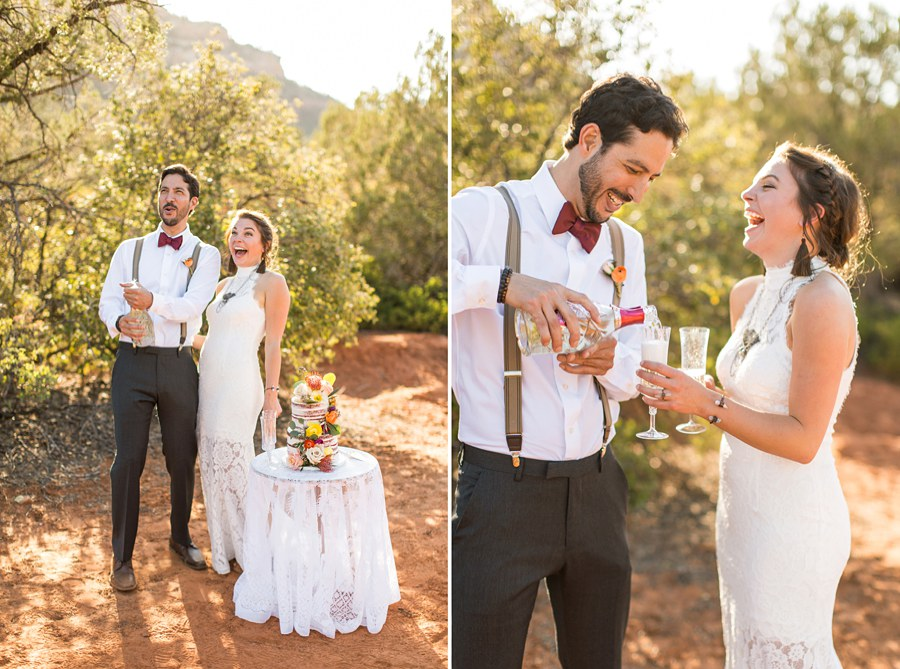 Northern AZ Wedding Ideas: Red Rock Country: Red Rock Country: Red Rock Country Toasting