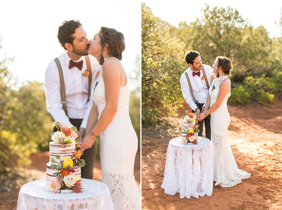 Northern AZ Wedding Ideas: Red Rock Country: Red Rock Country: Red Rock Country Cutting the Cake