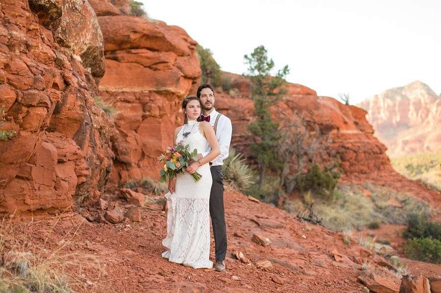 Red Rock Country: Sedona Arizona Elopement Inspiration Sunset