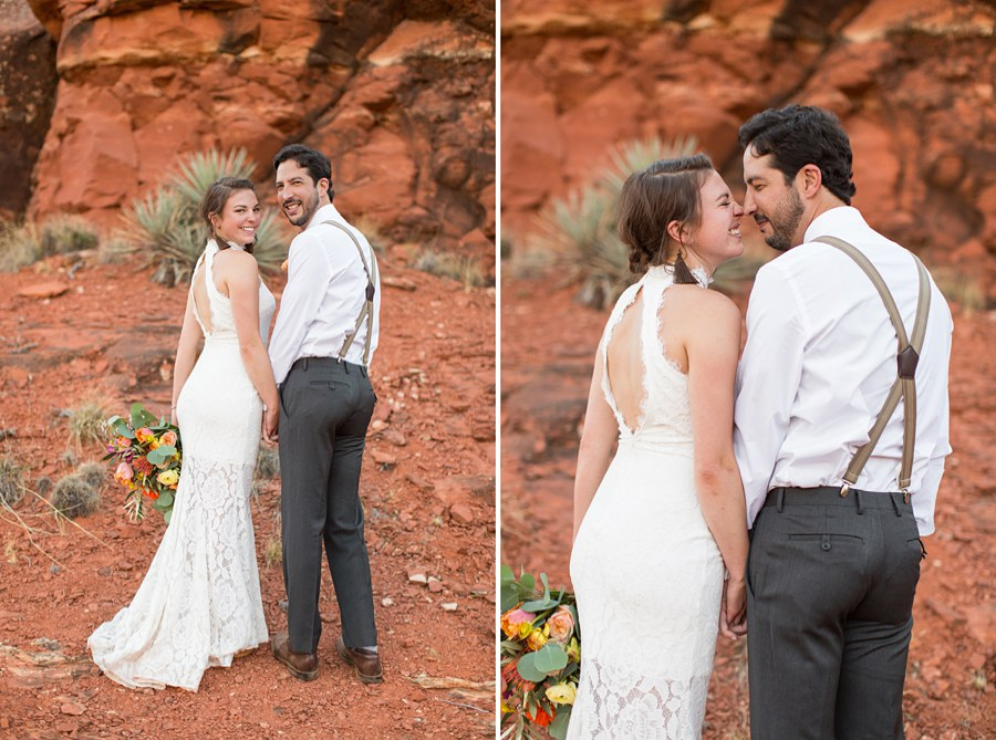Red Rock Country: Northern AZ Wedding Ideas Posing