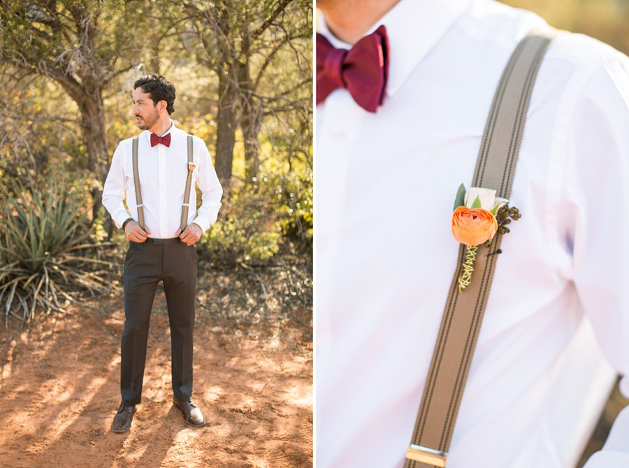 Red Rock Country: Northern AZ Wedding Ideas Groom