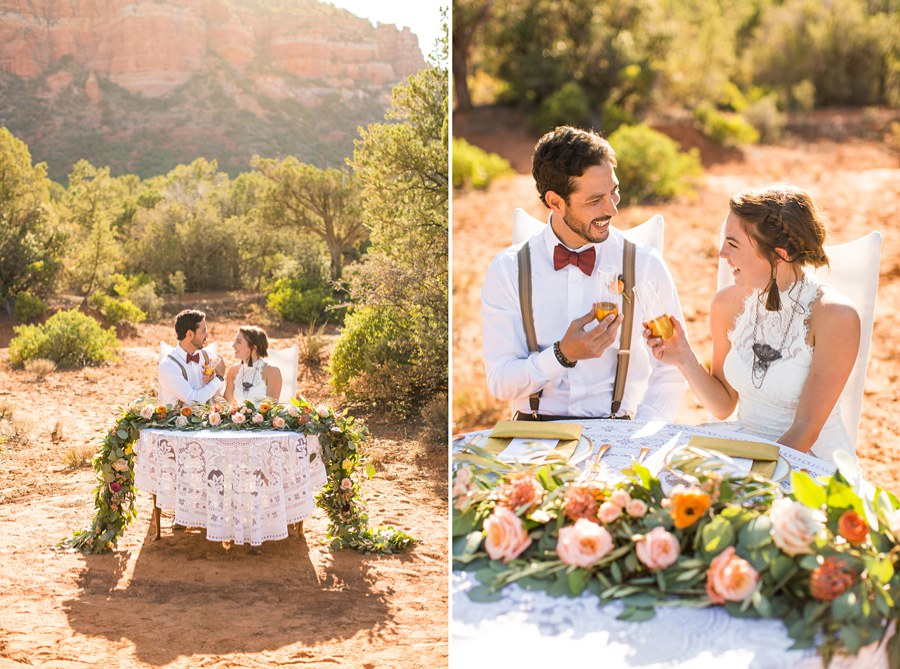 Northern AZ Wedding Ideas: Red Rock Country: Red Rock Country: Red Rock Country Cheers