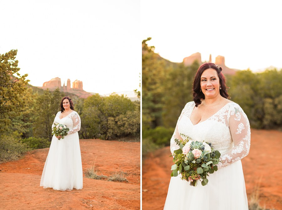 Northern AZ Elopement Photography Woman Bouquet Flowers - Claire and Terrence