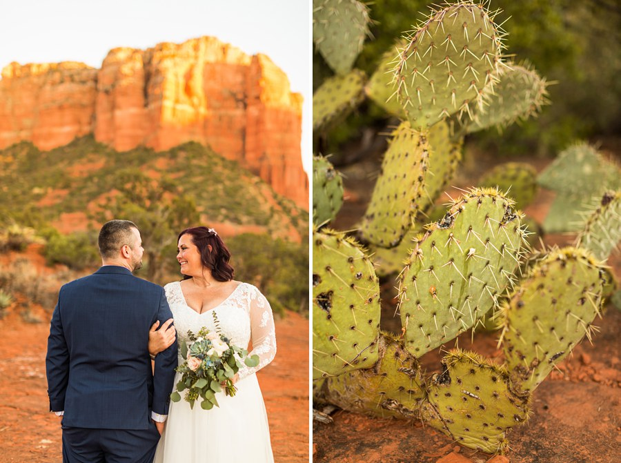 Northern AZ Elopement Photography Cactus - Claire and Terrence