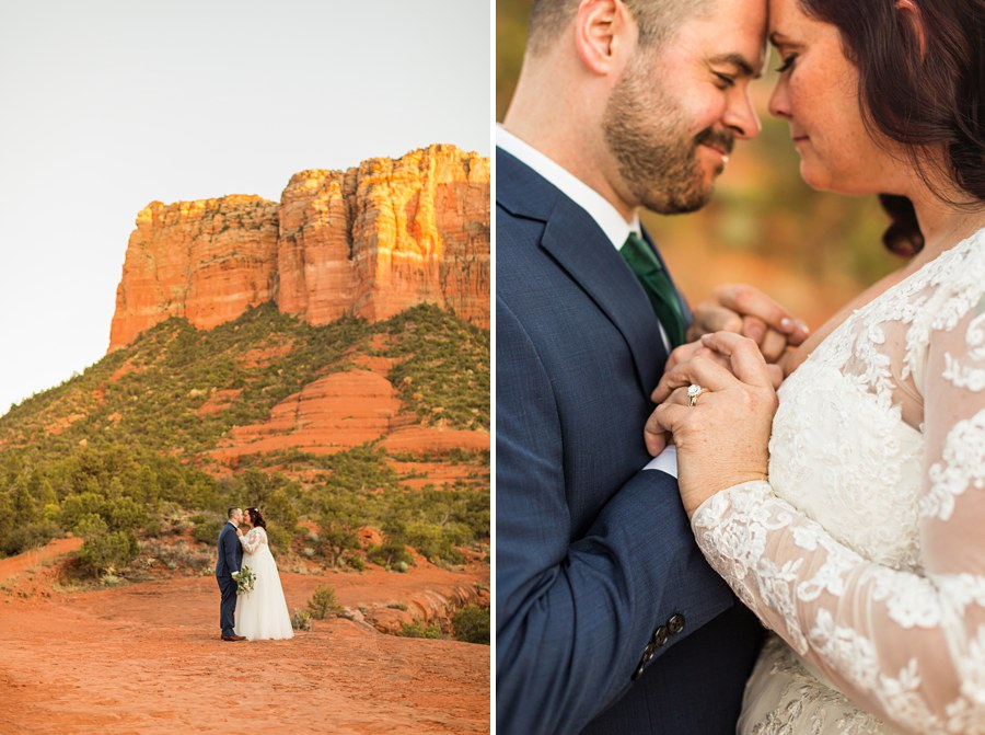 Northern AZ Wedding Photography - Claire and Terrence holding hands
