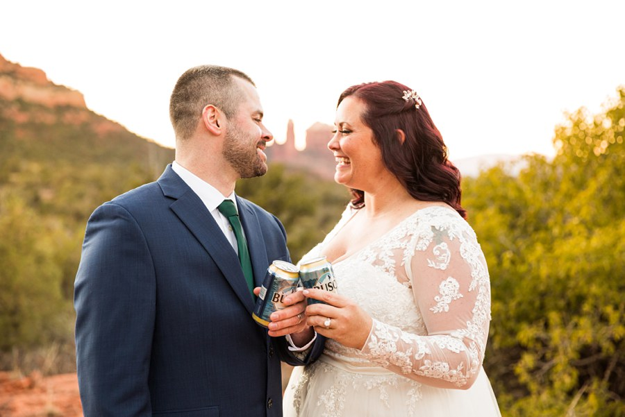 Northern AZ Wedding Photography - Claire and Terrence drinks