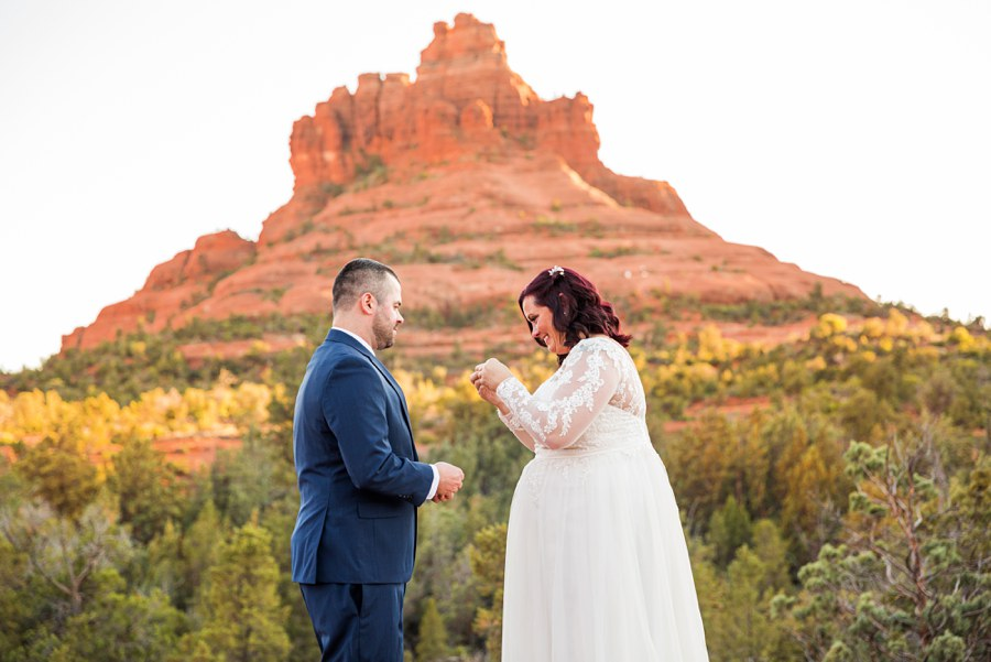 Northern AZ Elopement Photography Ring - Claire and Terrence