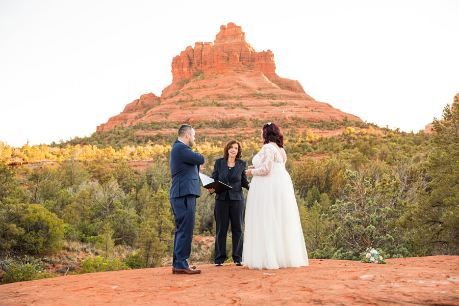 Northern AZ Elopement Photography Ceremony - Claire and Terrence