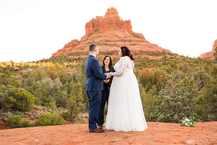 Ceremony Claire and Terrence - Northern AZ Elopement Photography