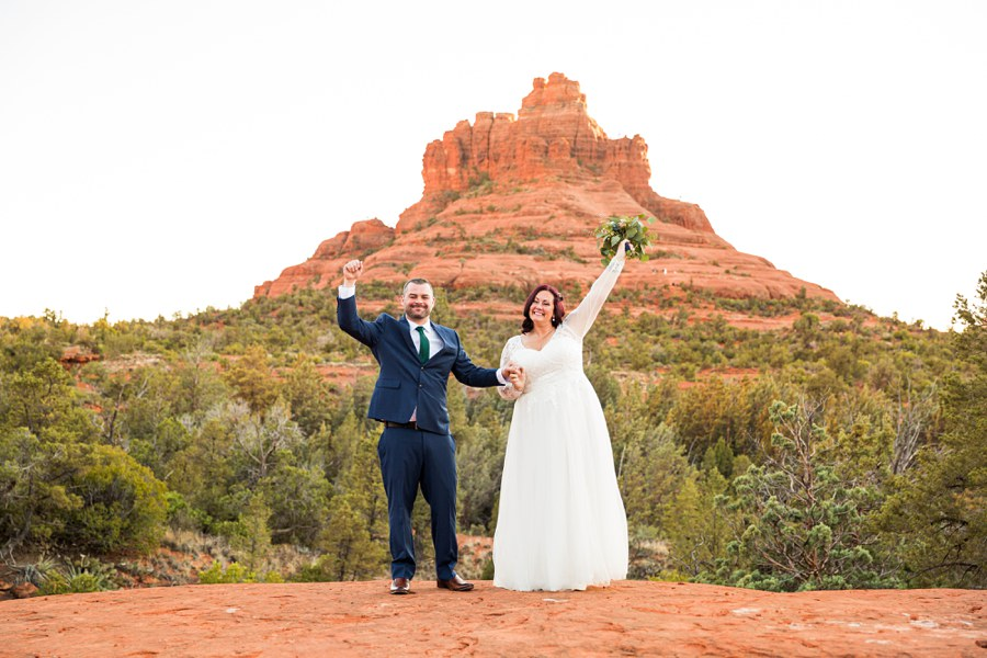 celebrate Claire and Terrence - Northern AZ Elopement Photography happiness Testimonials for Best Sedona Photographer