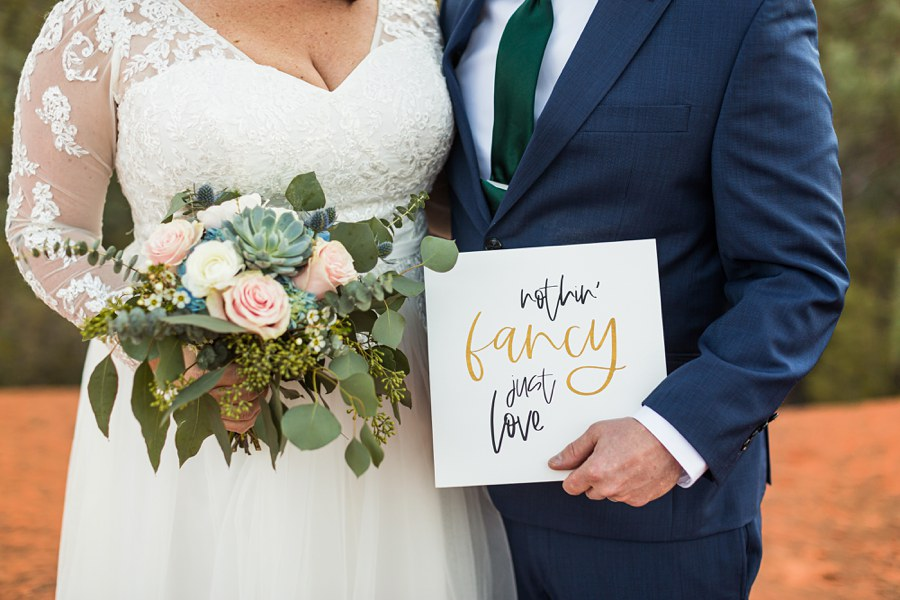 Northern AZ Elopement Photography sign - Claire and Terrence