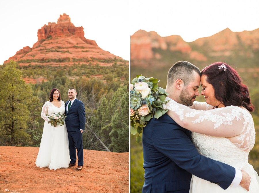 flowers mountain suit Northern AZ Wedding Photography - Claire and Terrence
