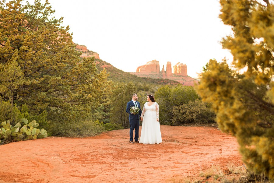 Northern AZ Elopement Photography Outdoors Couple Love - v