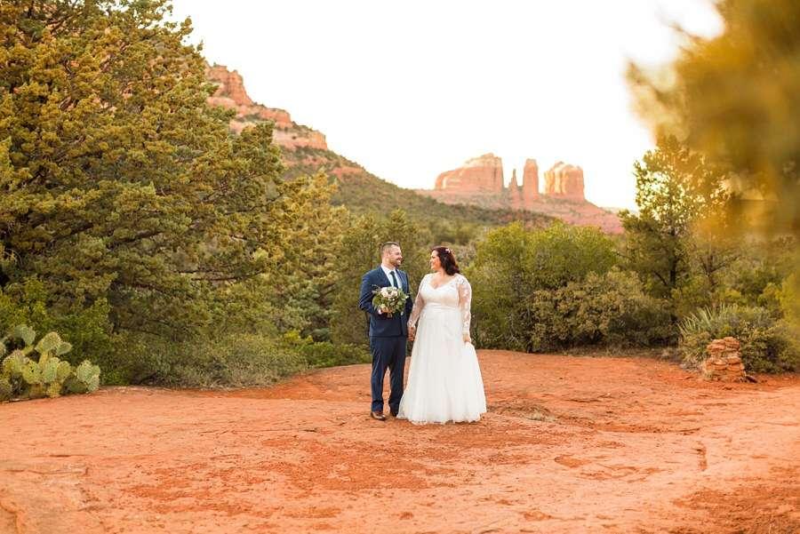 Sedona Arizona Elopement Photographers: Claire and Terrence landscape