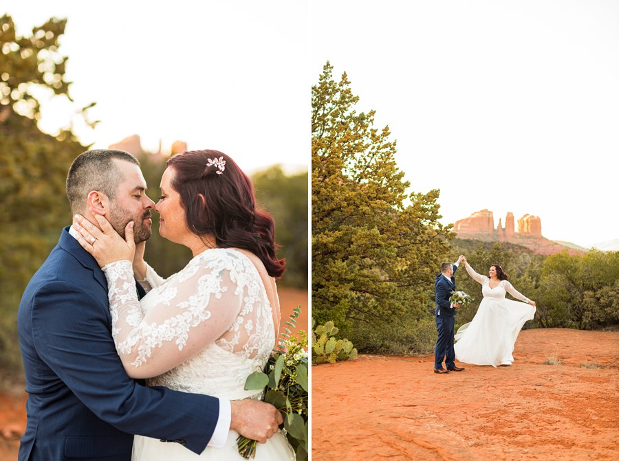 Northern AZ Wedding Photography - Claire and Terrence dress hair