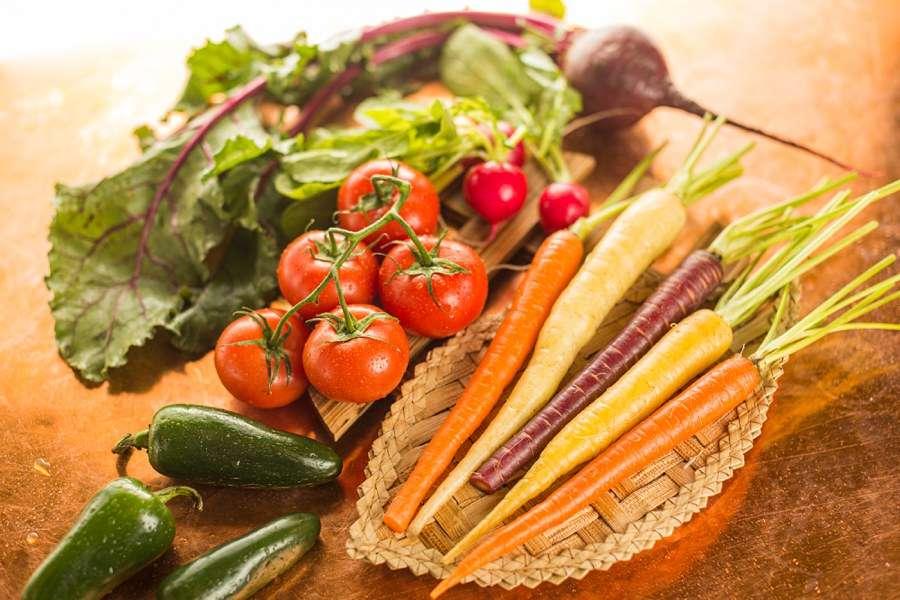 Sedona Arizona Restaurant Photographer Carrots Tomato Salad Peppers