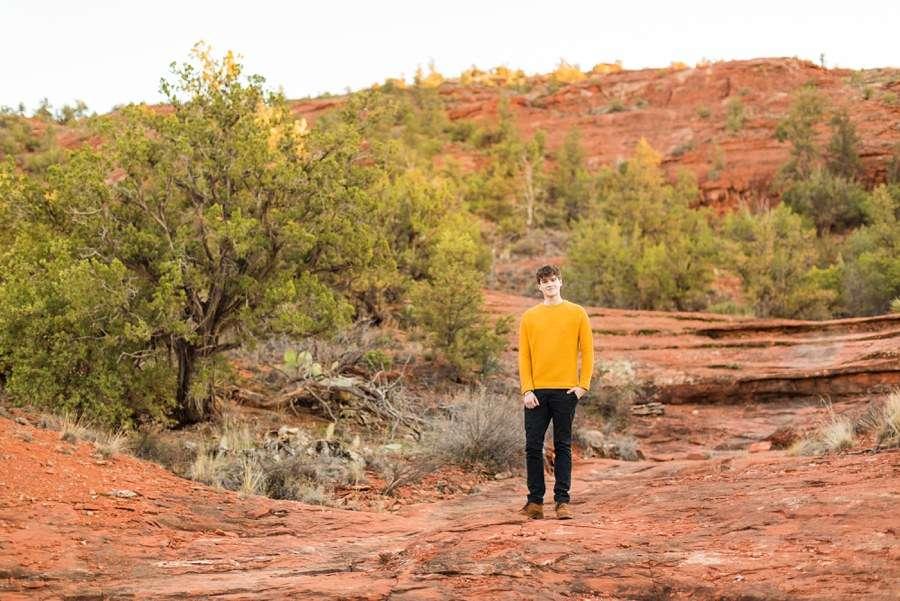 Yellow Shirt Man Northern Arizona Individual Photography Session