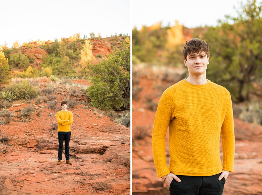 Northern Arizona Individual Photography Session Yellow Shirt