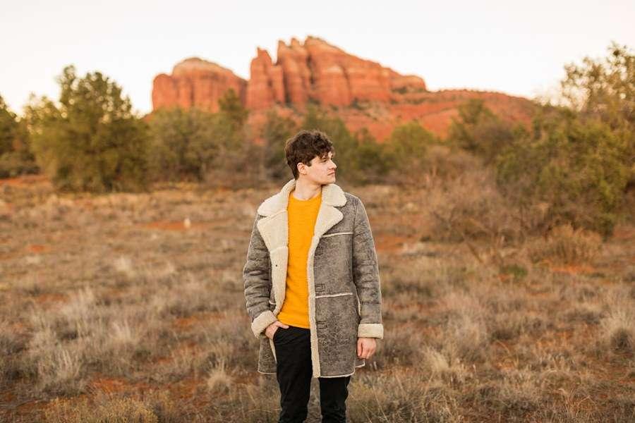 Red Rocks Coat Northern Arizona Individual Photography Session