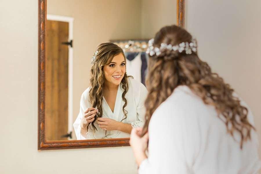 Jessie and Aaron: Stardance Tucson Wedding bride getting ready
