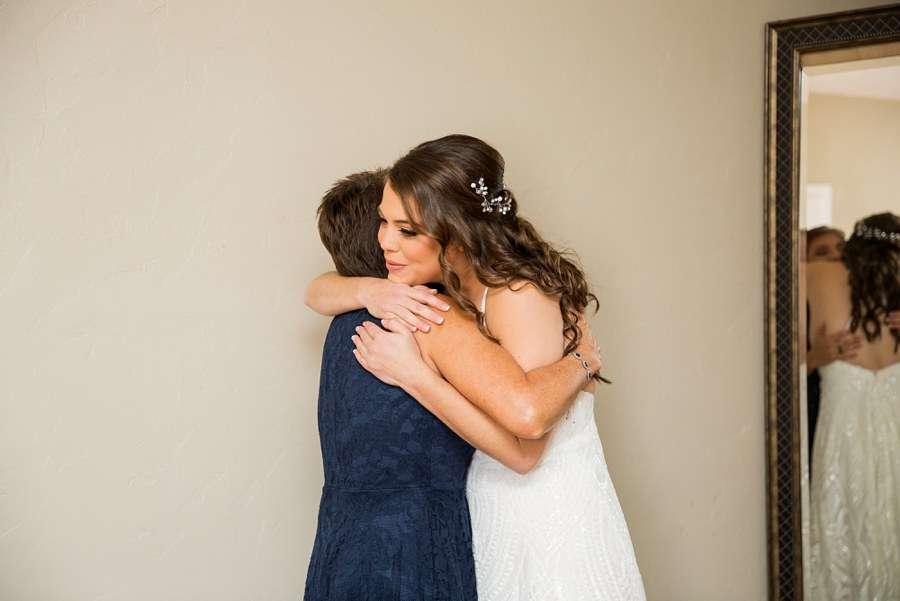 Jessie and Aaron: Stardance Tucson Wedding bride hug