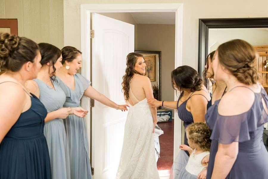 Jessie and Aaron: Stardance Tucson Wedding first look bridesmaids
