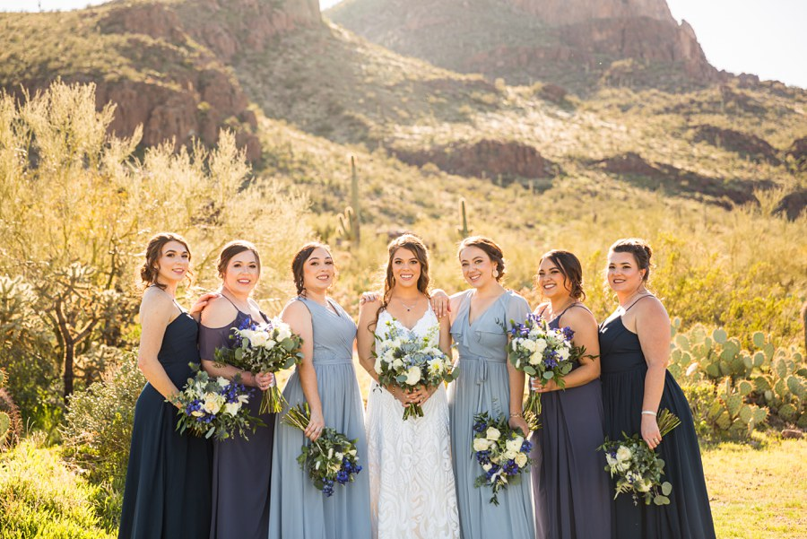 Jessie and Aaron: Arizona Desert Elopement Photography bridal party
